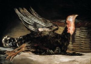 goya un pavo muerto