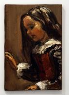 """""""El enano Nicolasito"""". 2015. Óleo sobre lienzo. 41×27 cm"""