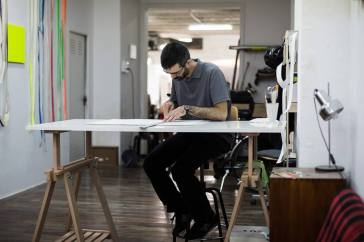 Manu Blázquez en el estudio. 2014