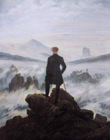 """""""El caminante sobre el mar de nubes"""". Caspar David Friedrich, 1818."""