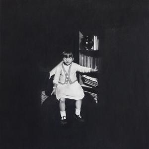 """Irene González """"En la caverna de la infancia"""" 76x76cm"""