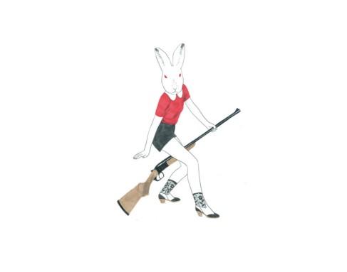 """Ilustración para """"Caza de conejos"""", por Sonia Pulido."""